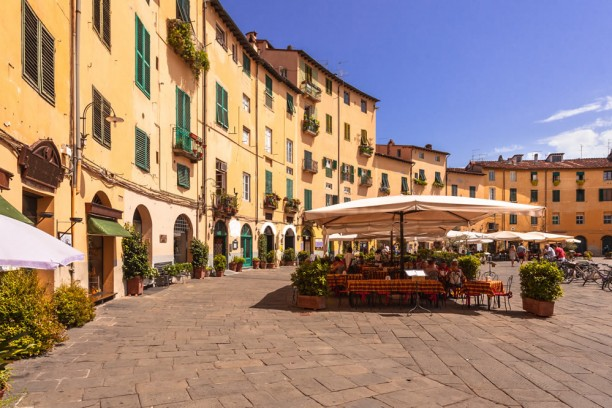 Market square in Lucca